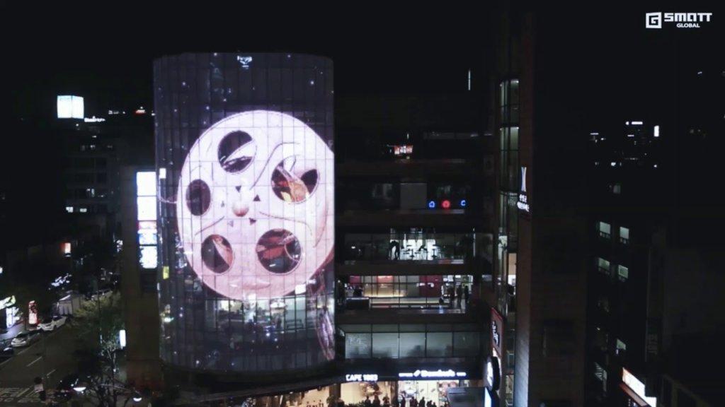 Transparent LED Glass Film Reel Bulding